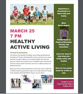 Healthy Active Living Presentation for Parents